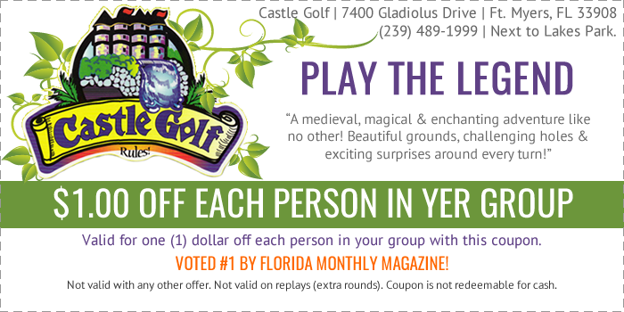 Castle Golf Coupon